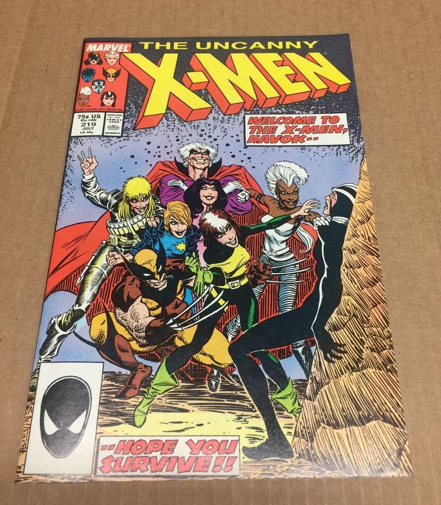 Uncanny X Men 219 1987 Nm 9 2 Wolverine Magneto Rogue Copper Age Marvel Comics Spider Man Unlimited X Men Comics