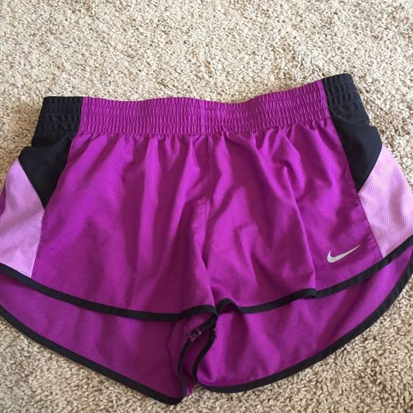 NWOT Nike dri-fit shorts Ended up never wearing these. So they are in new condition with drawstrings and lining. Nike Shorts