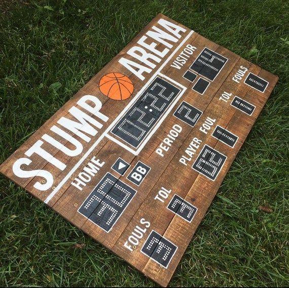 """43"""" x 26""""   Basketball Scoreboard   Custom Last Name ..."""
