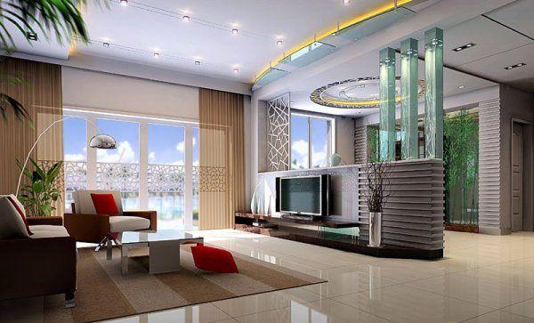 Sejour-Interieur-Tv-Flatscreen-Decoration-Design | For The Home