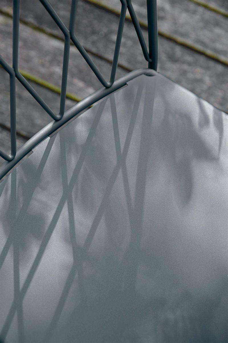 Chaise Kintbury Design Terence Conran Couleur Gris Orage Fermob Grey Outdoor