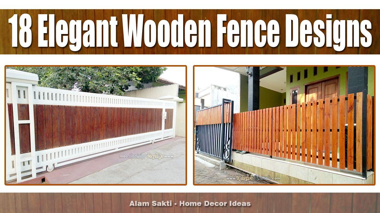 18 Contoh Desain Pagar Kayu Minimalis Terbaru Pagar Kayu Pagar Desain Harga pagar kayu minimalis modern