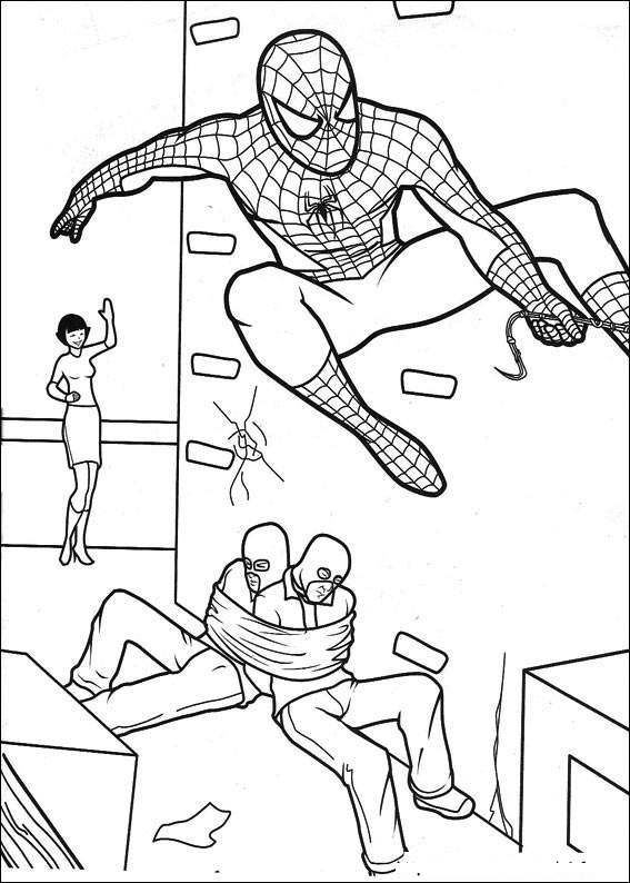 happy feet coloring pages | Spiderman 011 coloring page | Coloring ...