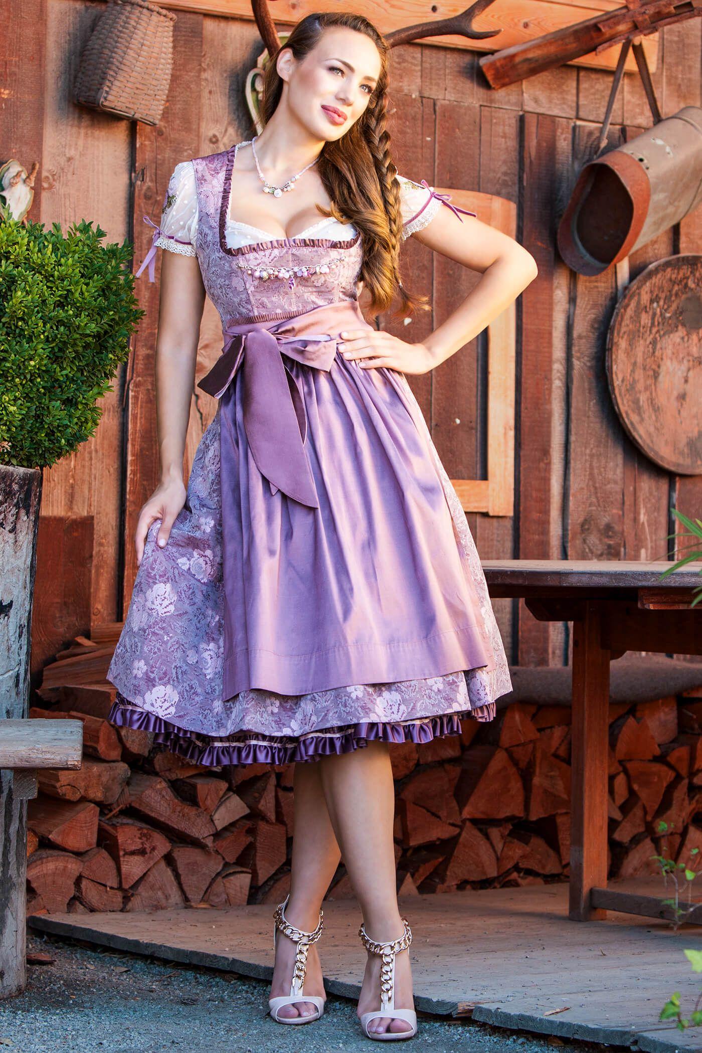 Violetta (misty mauve) | Dirndl und lederhosen, Dirndl ...