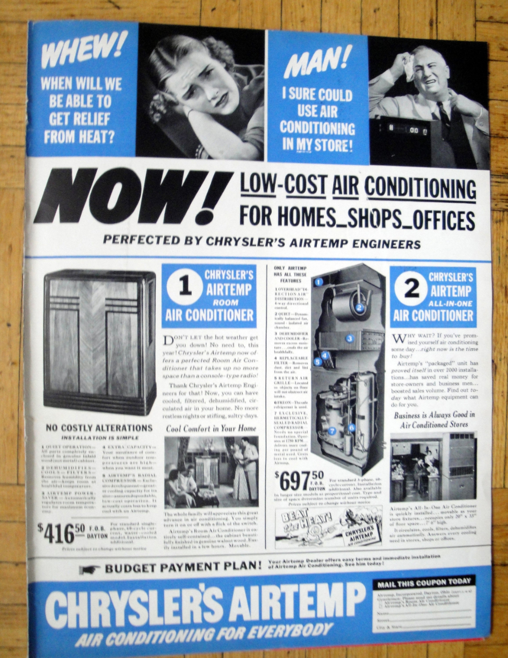 1938 Chrysler Airtemp Home Air Conditioner UnitOriginal