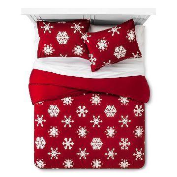 Snowflake Flannel Duvet  Sham Set - Threshold™ Holiday Decor and