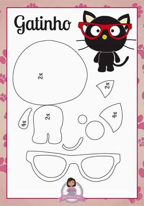 Aprenda dicas preciosas para fazer qualquer modelo de gato de feltro ...