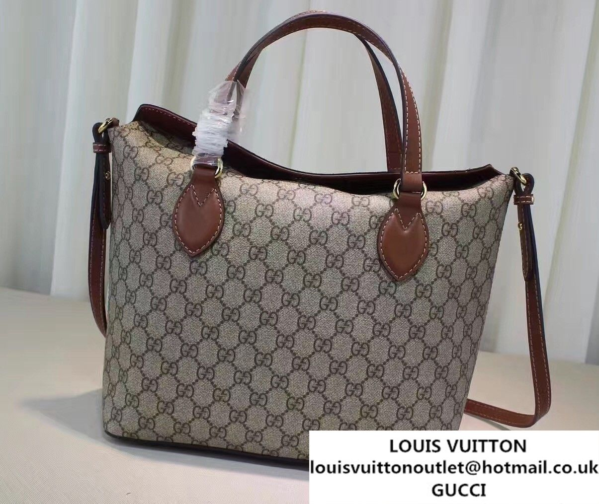 6e1eb0792f78 Gucci GG Supreme Small Top Handle Tote Bag 429147 Brown | Gucci ...