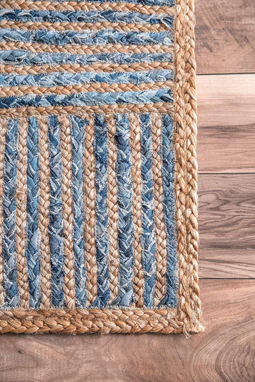 RAG RUG, braided rectangle rug, meditation mat, mandala