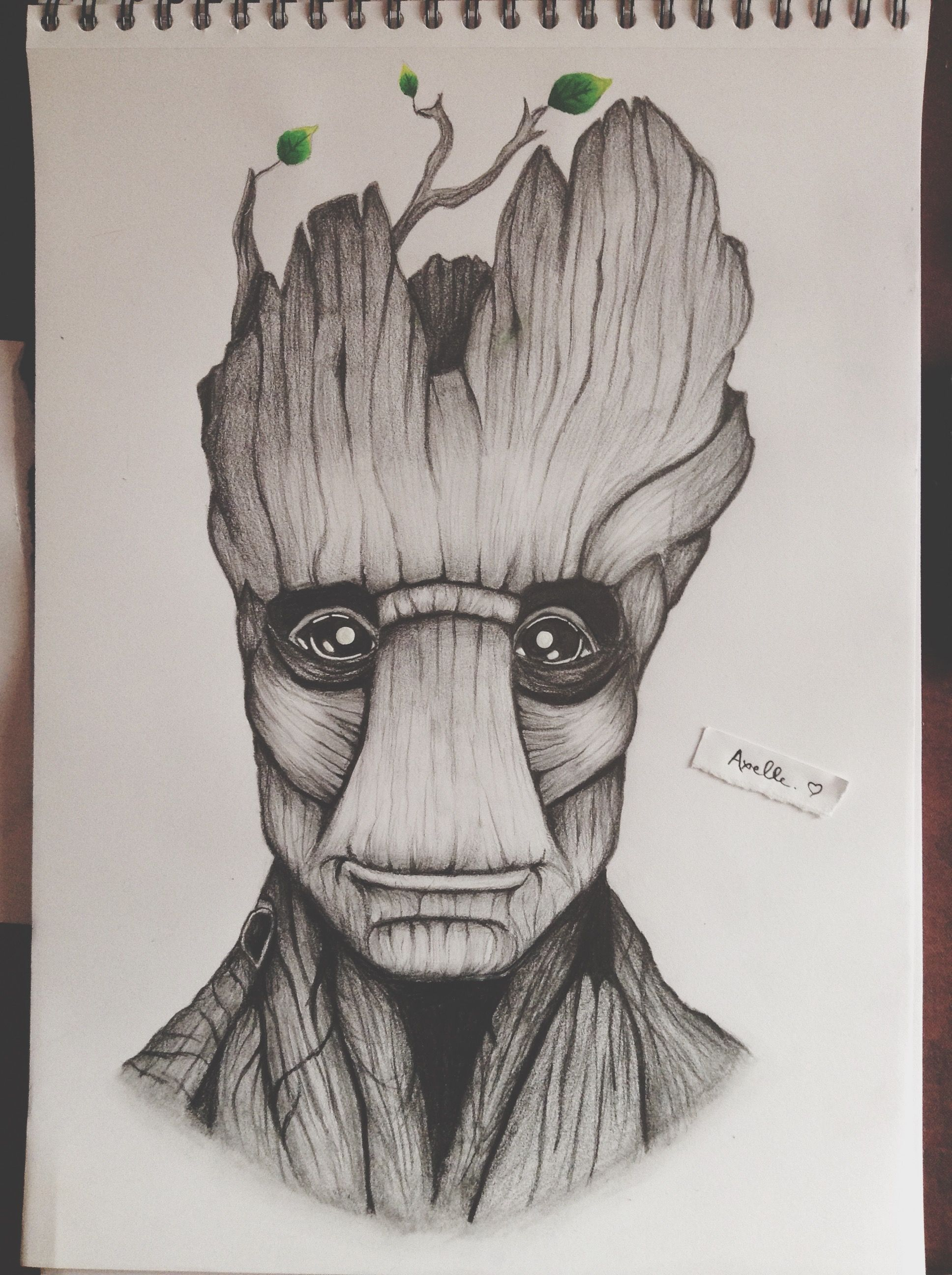 I am groot here is my drawing of groot from the movie guardians of the galaxy hope you will - Dessin de personnage ...
