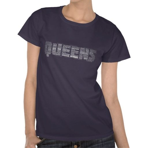 Queens New York Typography Design T-Shirt  a0c62fd133c