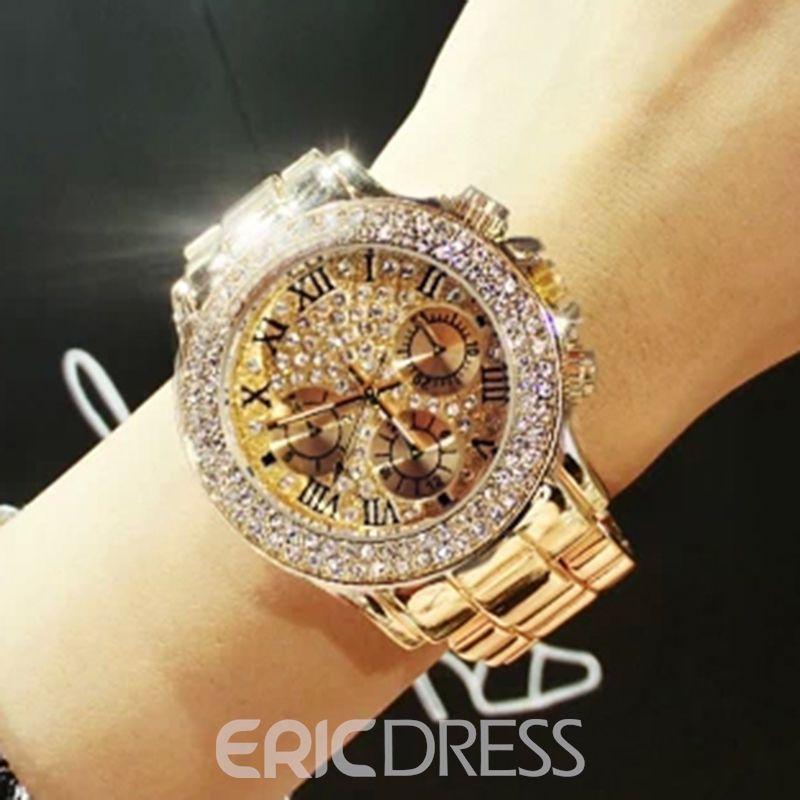 b715ff61c4a0 Luxurious Golden Shining Watch