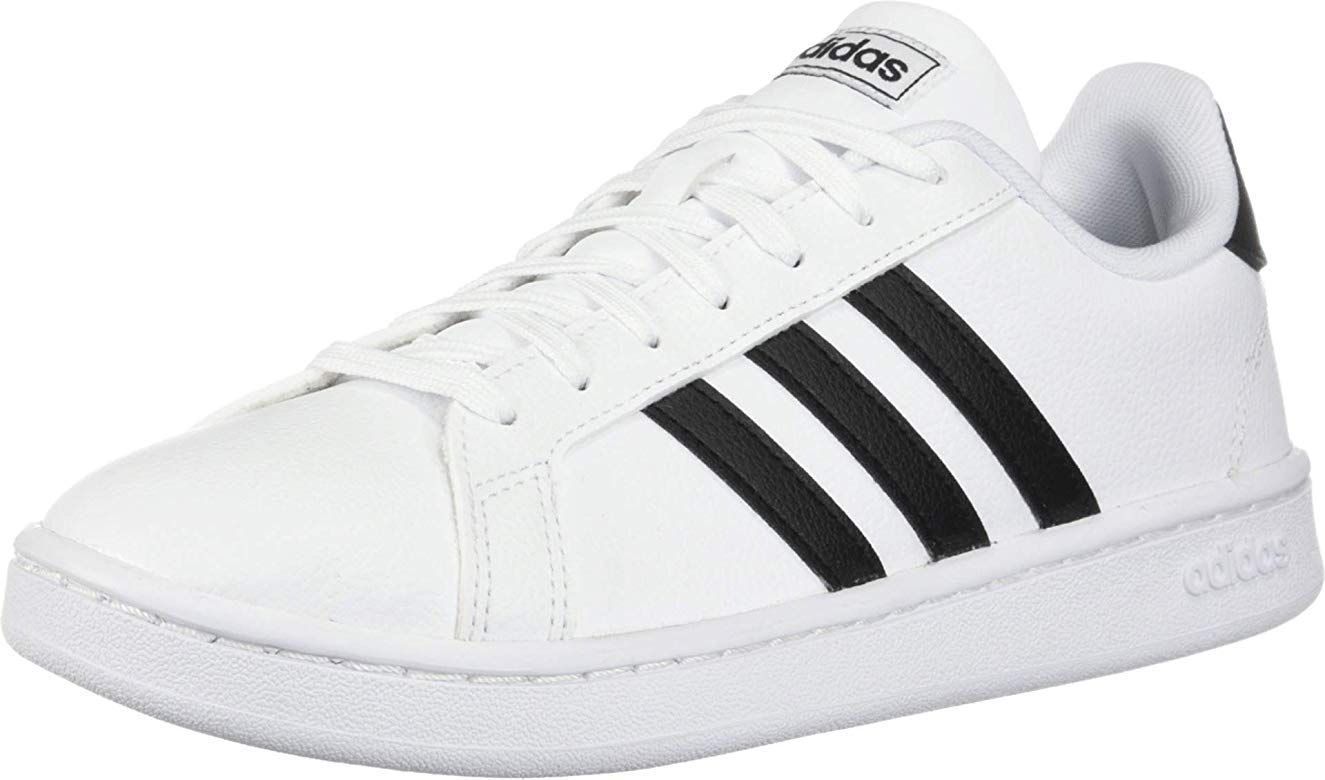 adidas Women's Grand Court, Black/White, 8 M US | Adidas ...