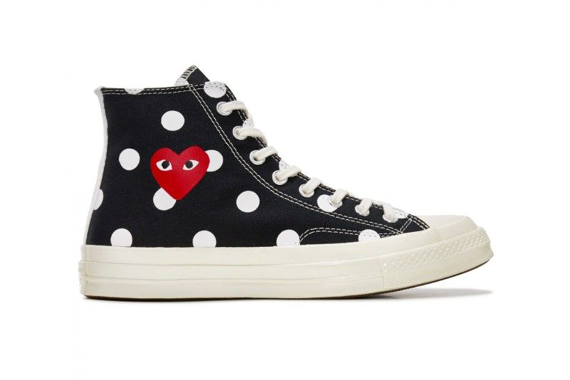 fd348ddc87d9 COMME Des GARÇONS PLAY Updates the Converse Chuck Taylor All Star  70 With  Polka Dots
