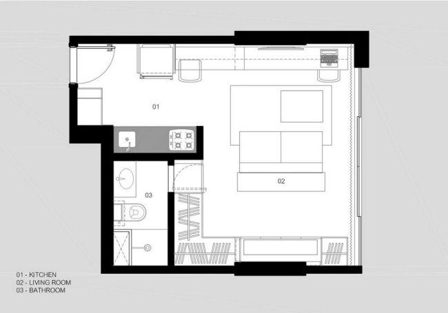 einzimmerwohnung einrichten kluges raumspar konzept brasilien, einzimmerwohnung einrichten – kluges raumspar-konzept in brasilien, Design ideen