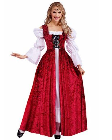 Medieval Lace Up Gown Costume - - Such an Elegant Looking Costume - grown up halloween costume ideas
