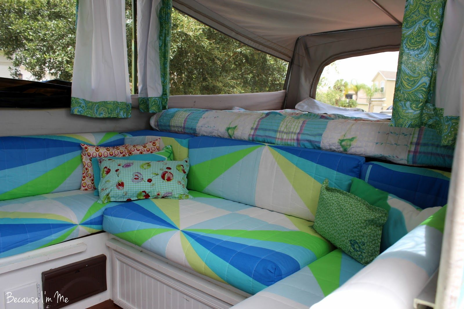 Retro camper curtains - Pop Up Camper Curtains Because I M Me Jayco 1207