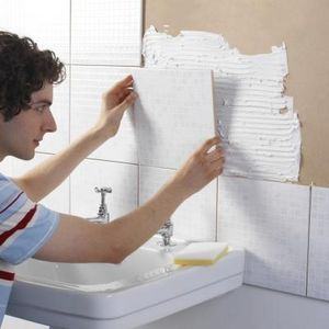 How To Fix Ceramic Tile To A Wooden Countertop Kitchen Wall