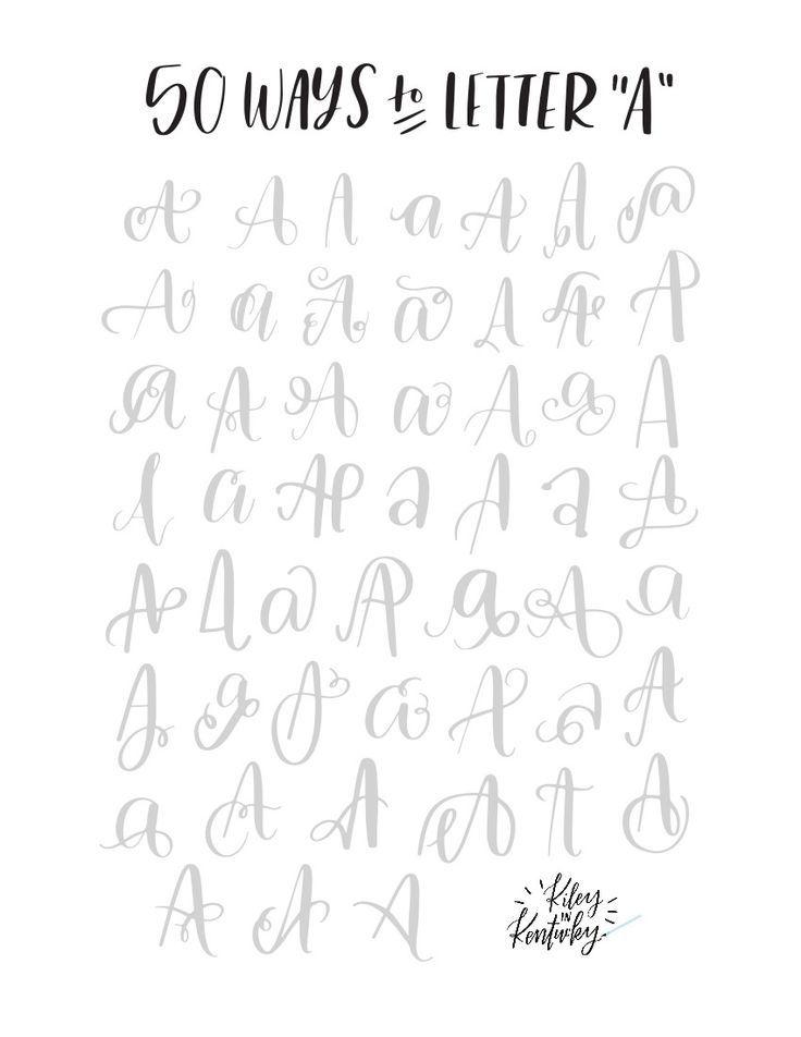 Brush Lettering For Beginners的圖片搜尋結果 Con Imagenes
