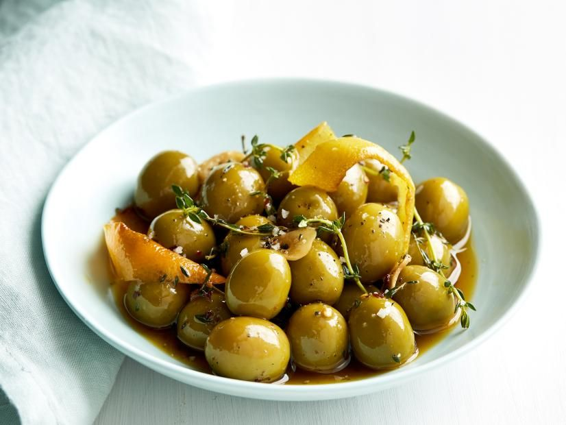Citrus Marinated Olives Recipe Olive Recipes Food Network Recipes Marinated Olives
