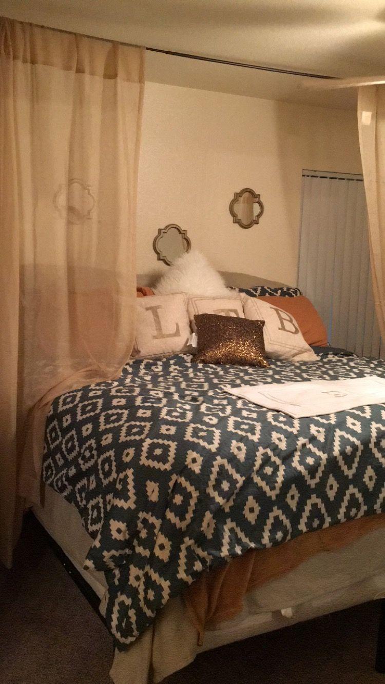 Aztec Bedroom set, His & Hers. Rodded Canopy! Bedroom