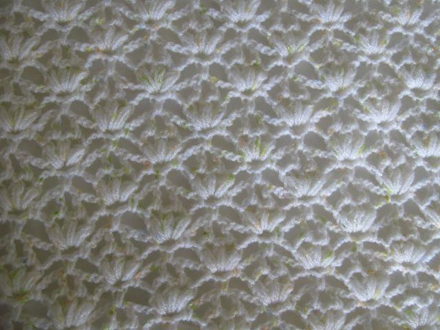 Puffy Crochet Baby Blanket Pattern : White crocheted puff stitch baby blanket Crochet ...