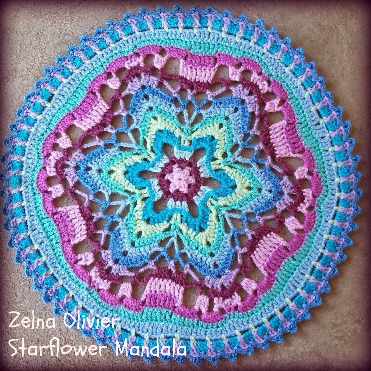 Starflower Mandala Pattern Zierdeckchenmuster Mandalas