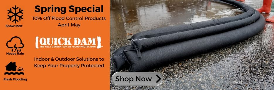 Save 10% on all Quick Dam products including Flood Gates