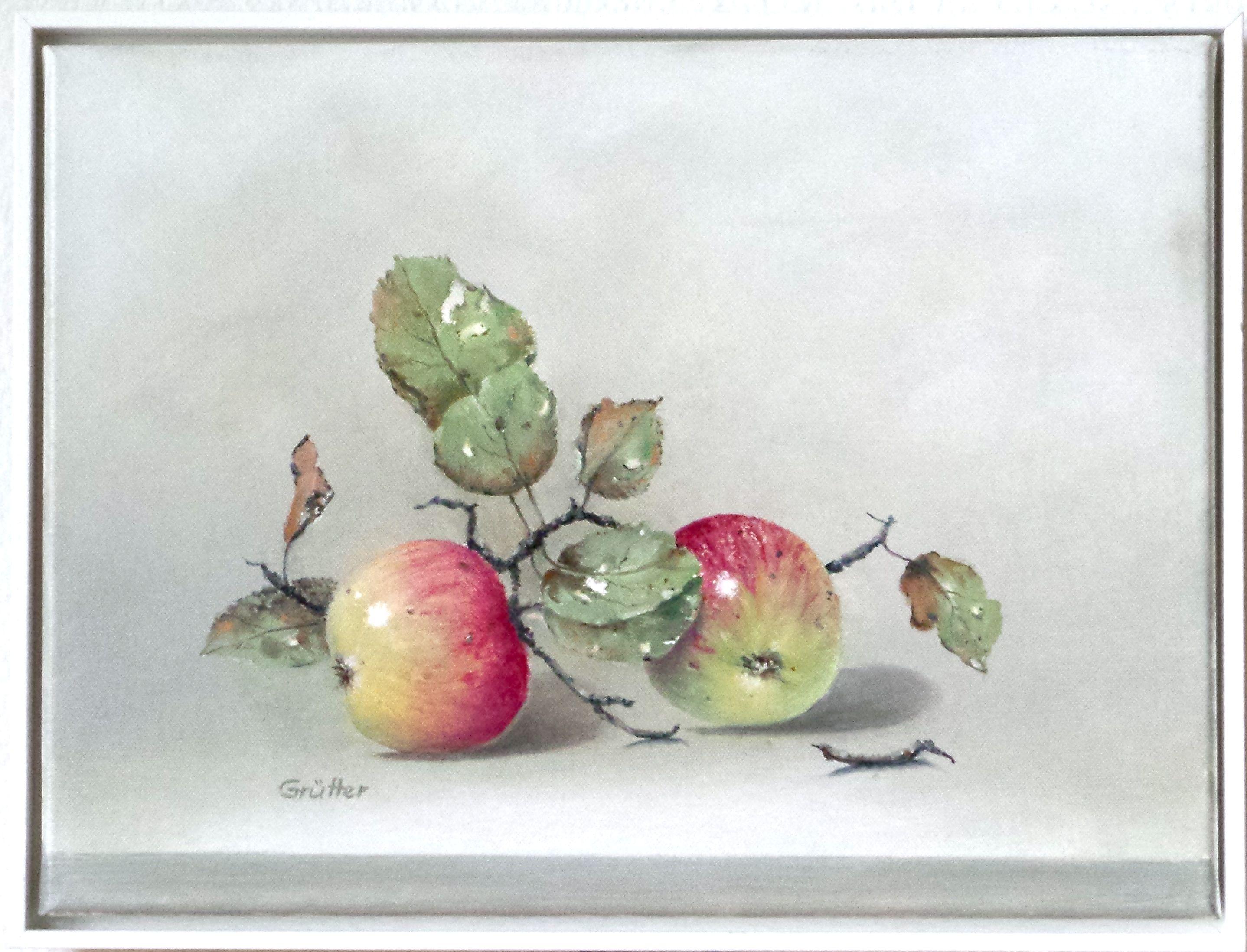 Zwei Äpfel 40 x 30