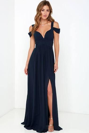 Prom Midnight Blue Dress Dance Dresses Dresses Prom Dresses