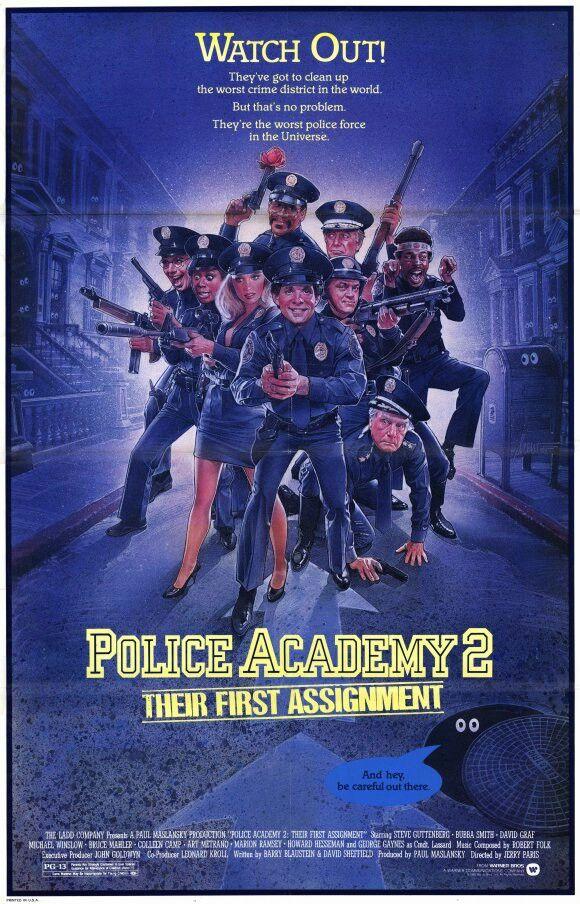 Police Academy 2 1985 80s Movie Posters Police Academy Movie Police Academy