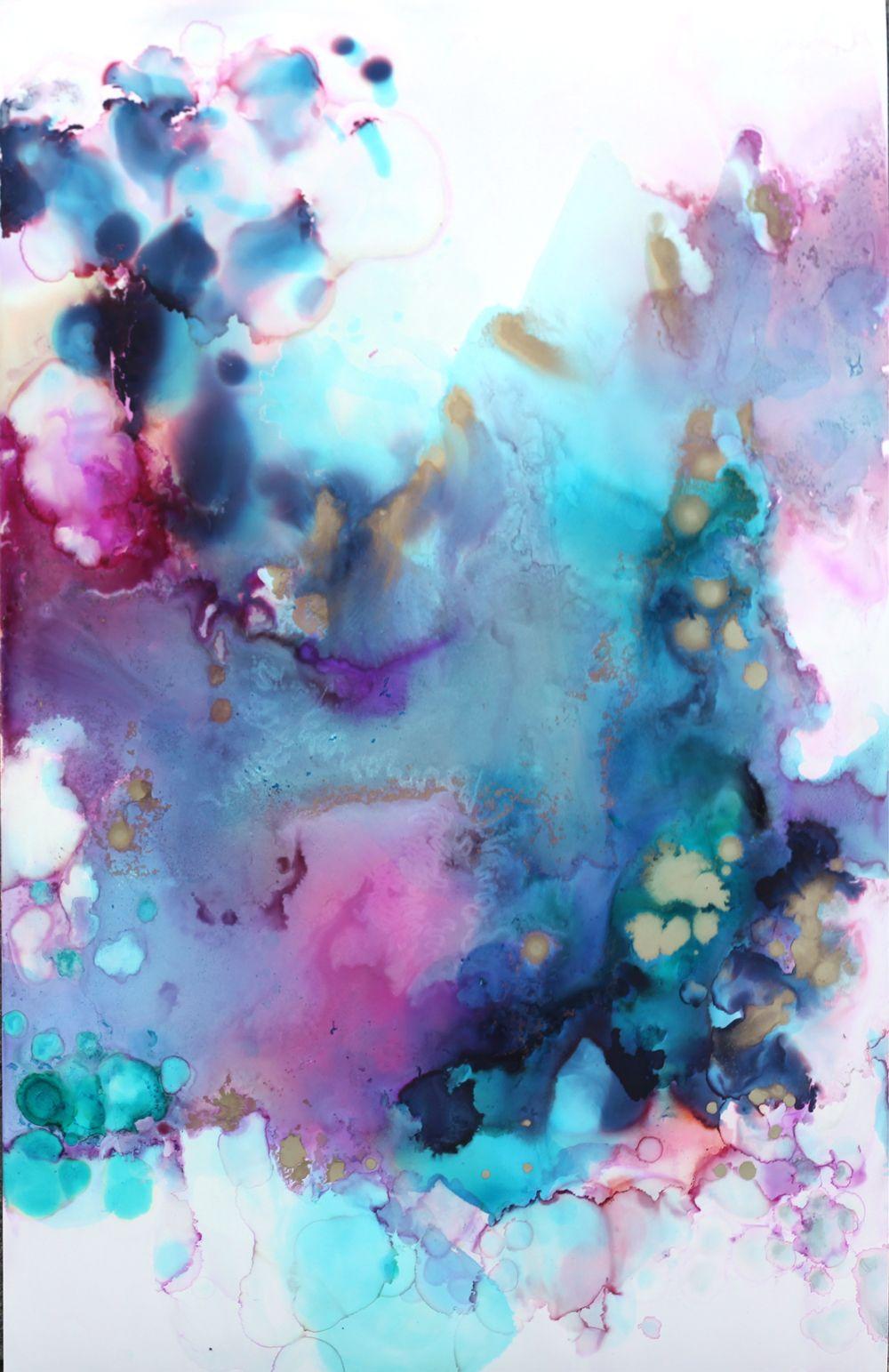 Verve - original art on paper — angela miller