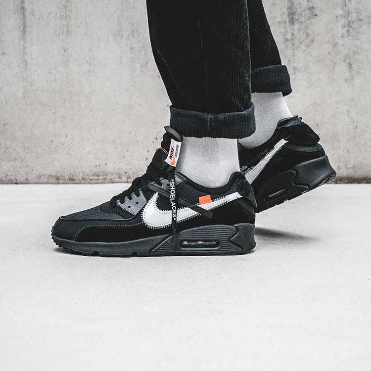 nike air max 90 off white black release date