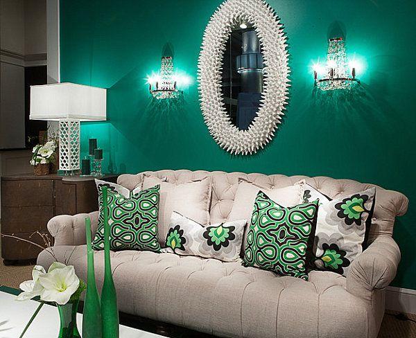 trend farben wand gestaltung-spiegel design prächtig sofa, Innenarchitektur ideen