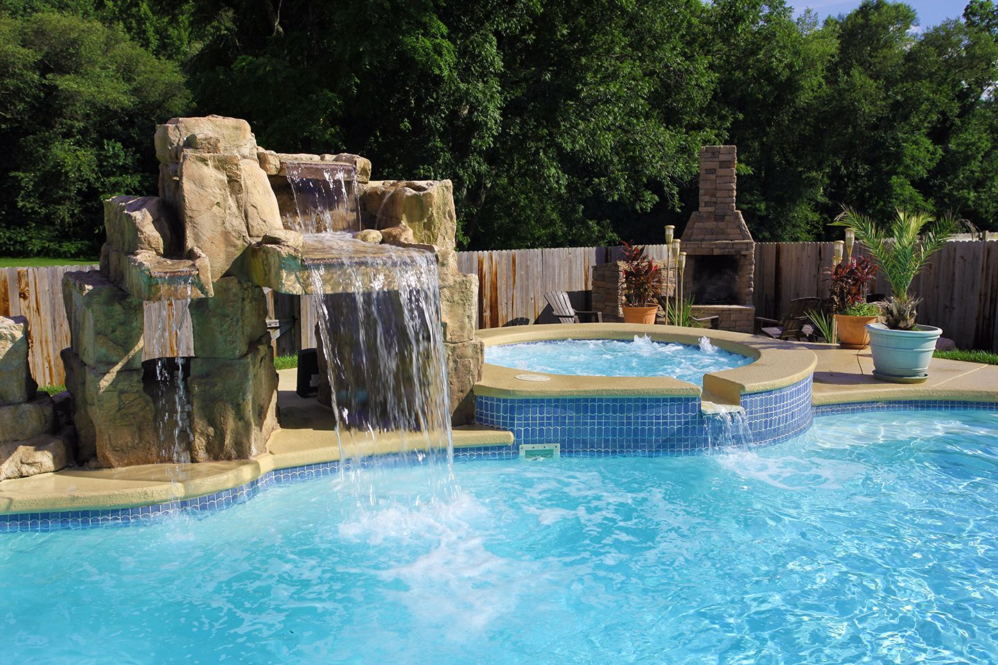 Water Features Waterworks Pool Spa Kbhome Pools