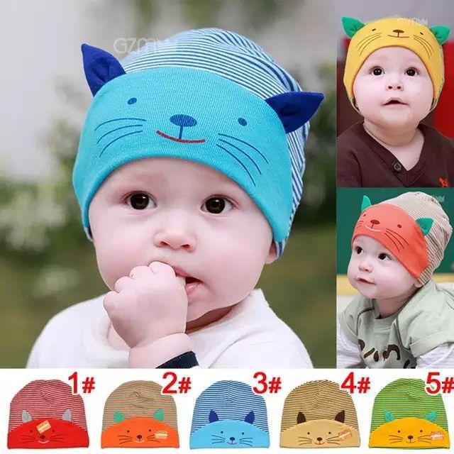 Gorros De Invierno Para Niños Bebes Cálido Ropa Gorro Baby Algodón Hat Cap New