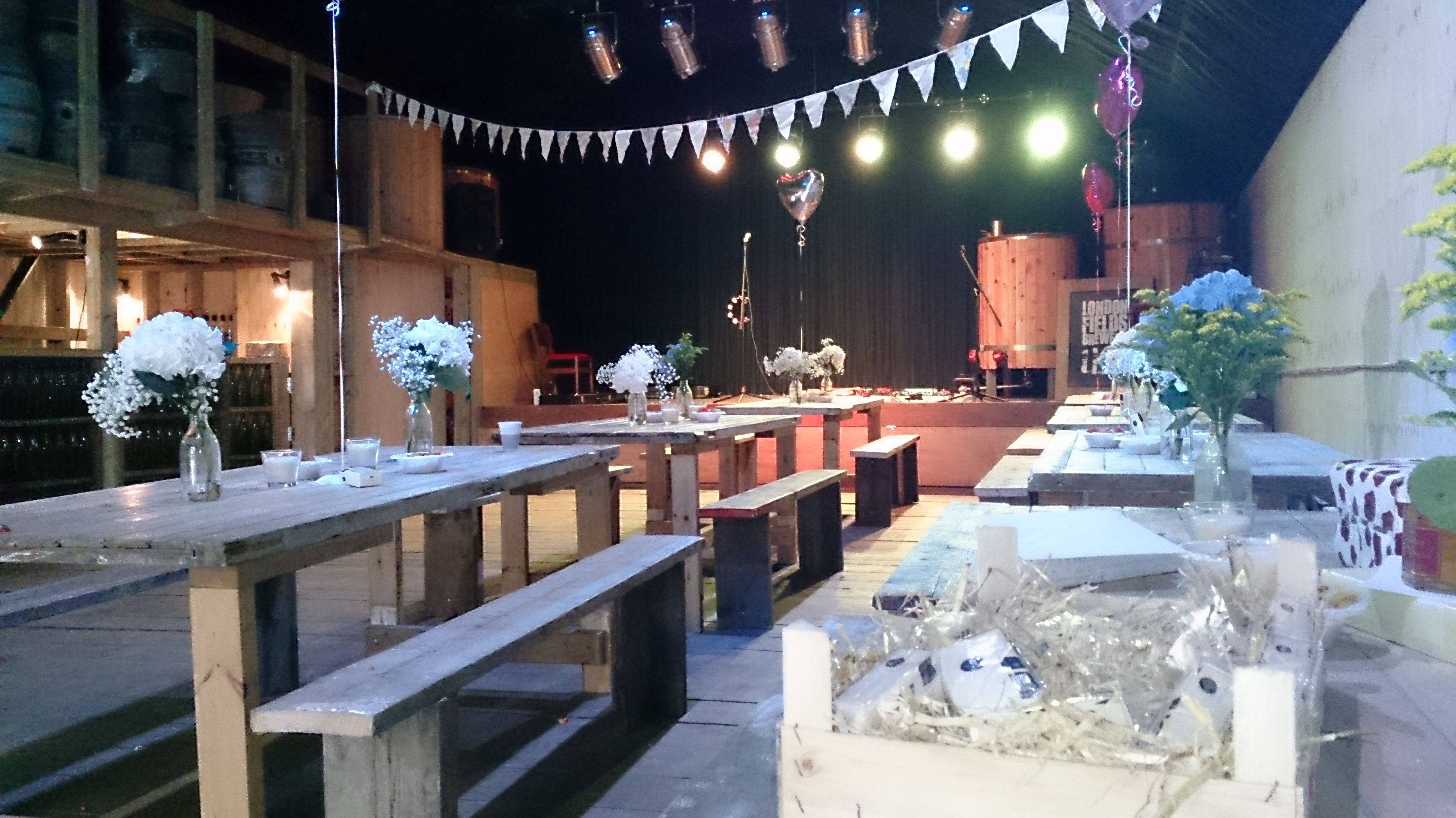 A wedding at London Fields Brewery when