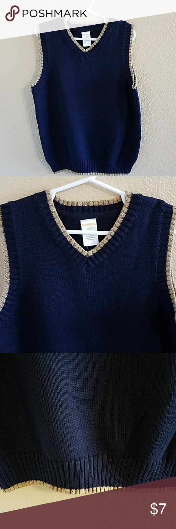 Gymboree NWT Navy Blue & Khaki Sweater Vest sz S NWT | Boys ...