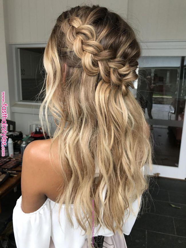 Hair inspo from our shoot #xeniaboutique @emmachenartistry #weddinghairstyleshalfuphalfdown #promhairstyles