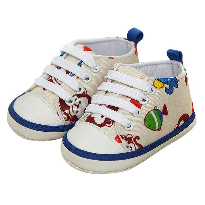 32917e4073d86 Newborn Baby Boys Girls Cute Animal Lace-Up Comfortable Prewalker Toddler  Soft Sole Anti-slip Shallow Shoes