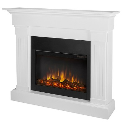 Real Flame Crawford Slim Electric Fireplace White Best