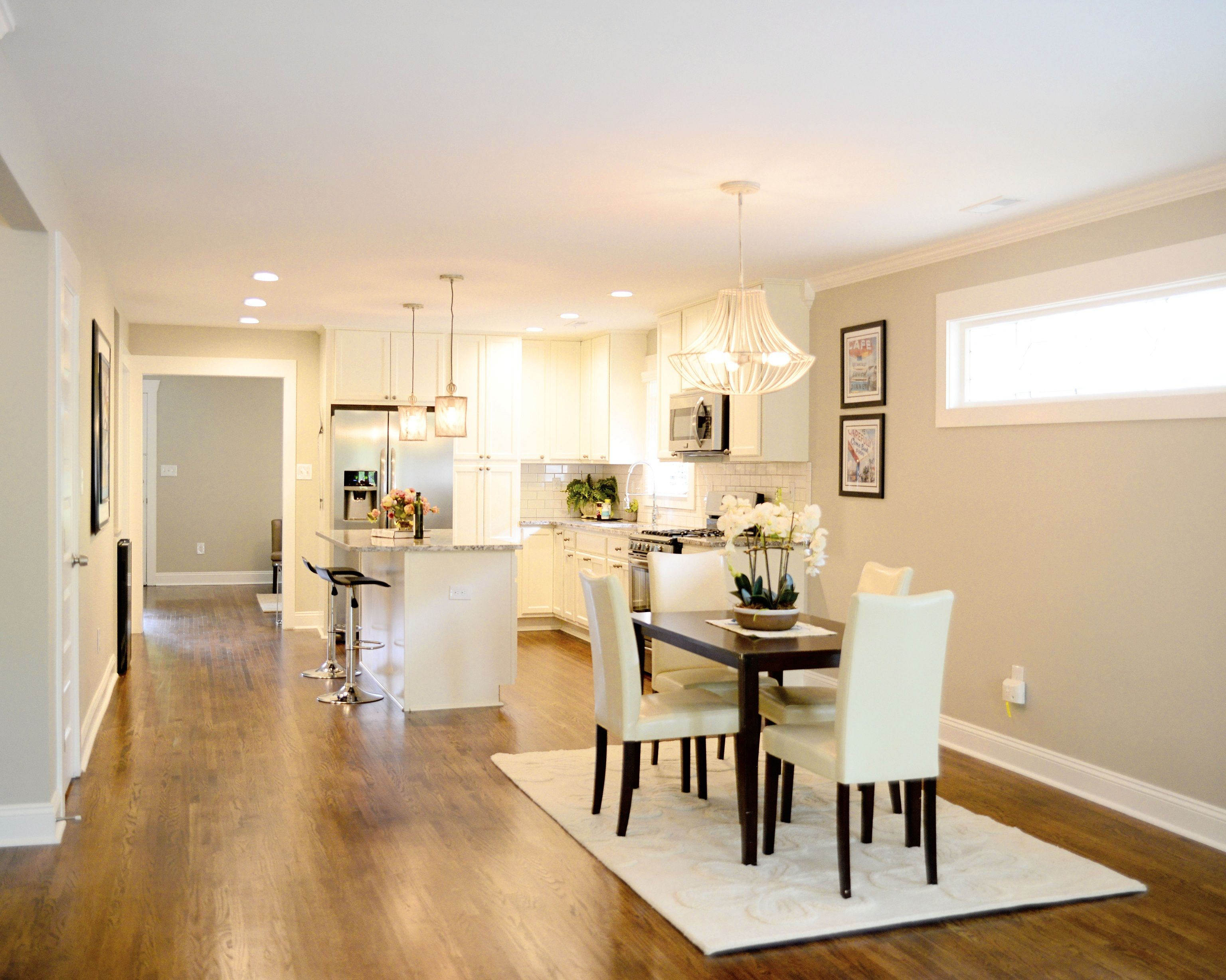 Open Concept Dinning Room And Ktichen #baystreetbungalows #houseflip  #remodel #bungalow