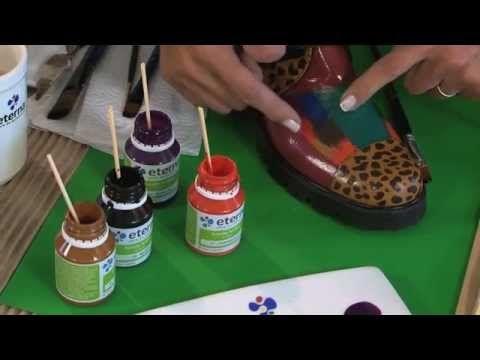 Como Pintar Sobre Cuero O Cuerina Con Cristina Importaciones Youtube Pintura Para Zapatos Pintar Cuero Como Tenir Zapatos