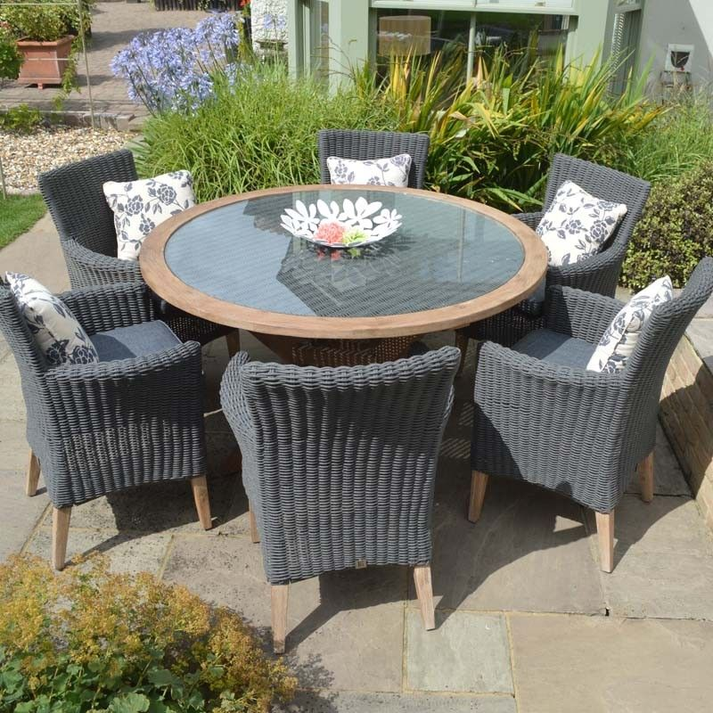 Hanoi Harbour 6 Seat Round Dining Set, quality outdoor furniture in ...