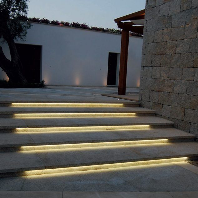 12 Outdoor Romantic Step Lighting Ideas For Bringing Light In Your Garden Outdoor Stairs Exterior Stairs Step