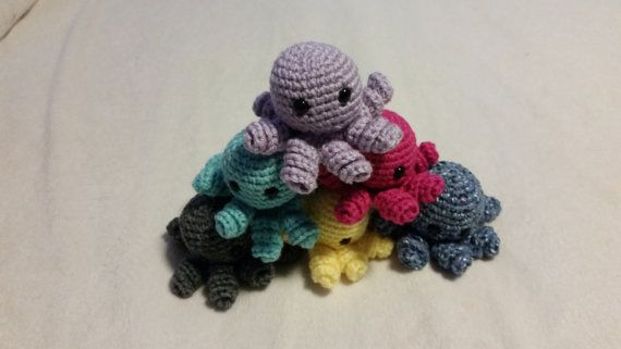 Mini Crochet Octopus Amigurumi, Gift for Kids, Octopus Plush, Octopus Plushie, Crochet Keychain Plush, Octopus Toy, Stocking Stuffer, kawaii