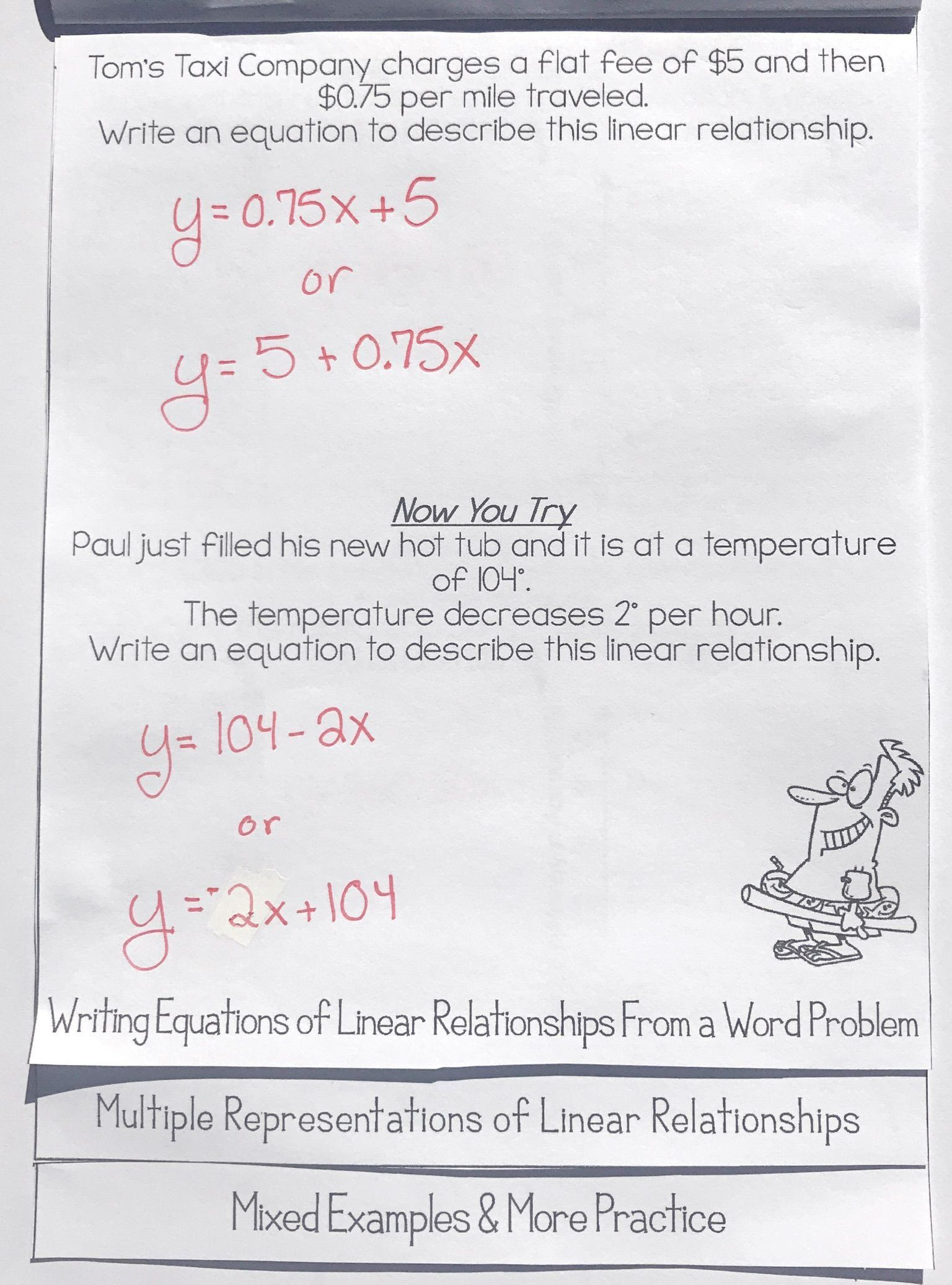 Solving For Y Worksheet Writing Amp Graphing Linear