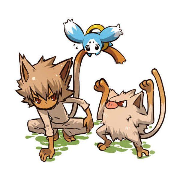 マンキー‐オコリザル ❤ liked on Polyvore featuring pokemon, anime and pokemon people