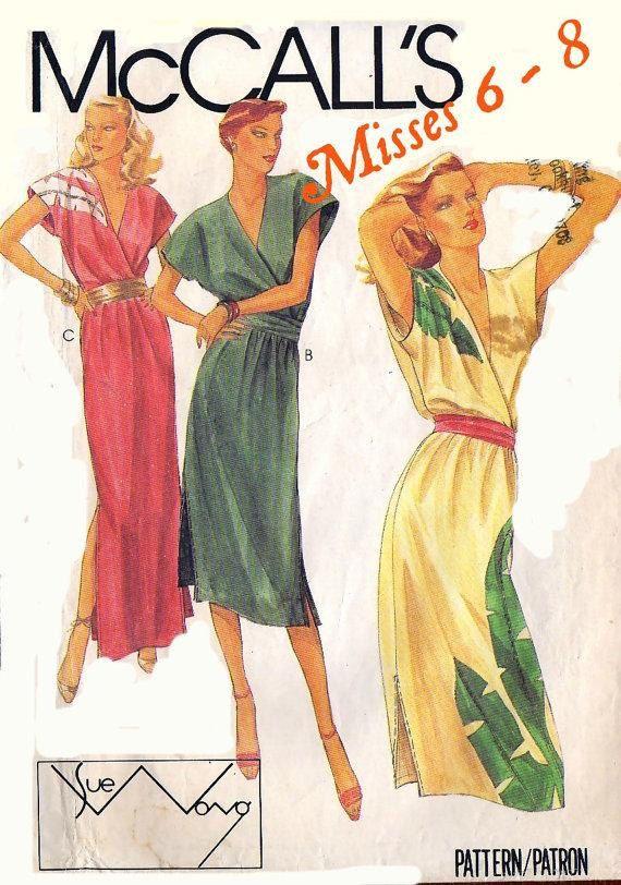 80s VINTAGE SUMMER DRESS Pattern    McCall's by KeepsakesStudio, $7.99