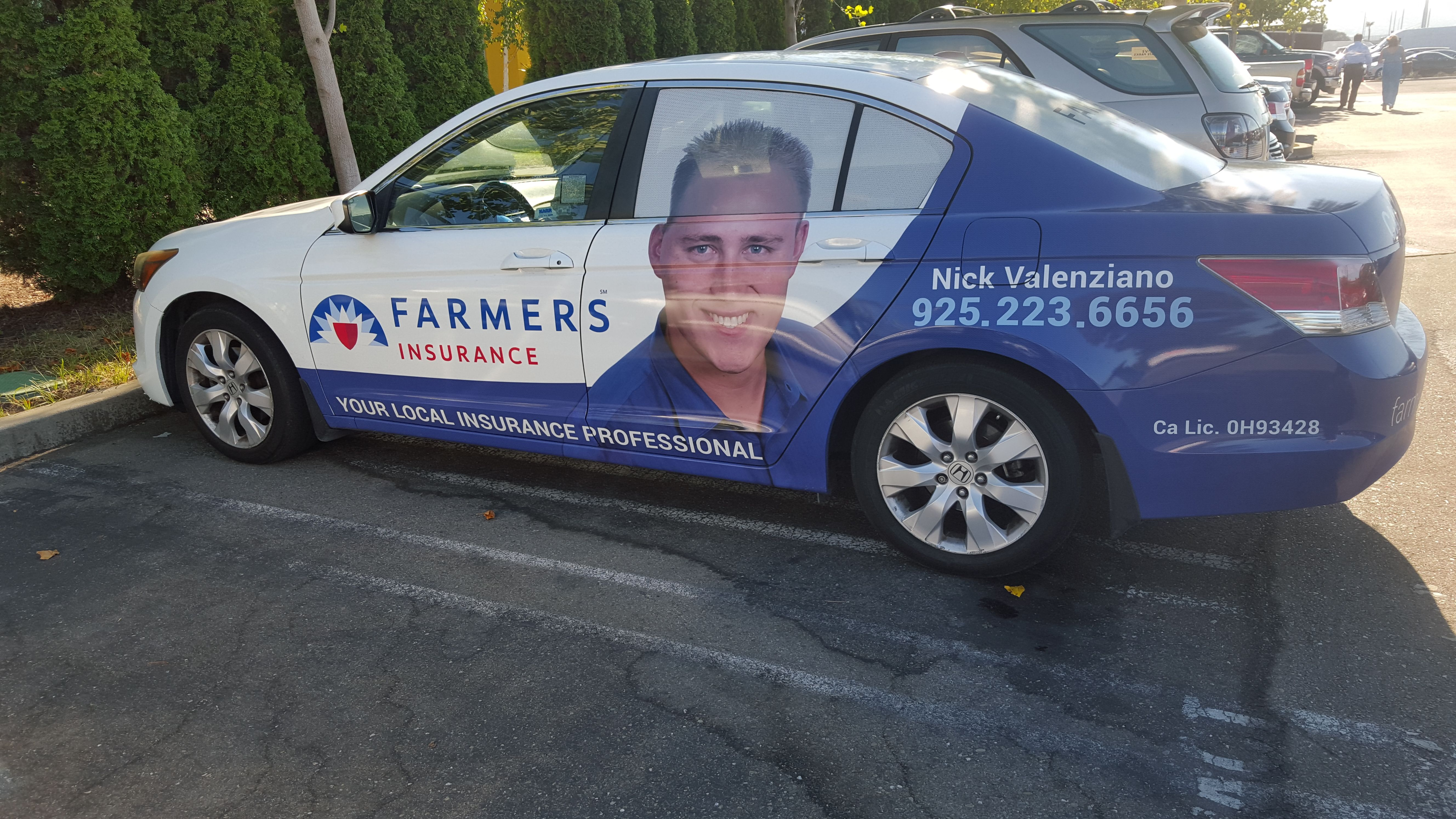 Farmers Insurance Agent Vehicle Wrap Insignia Designs Works With